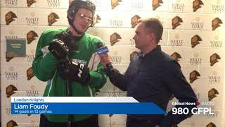 Liam Foudy talks hockey and track and field