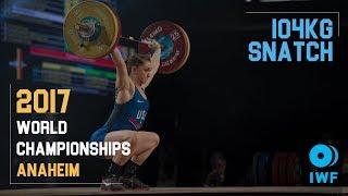 Mattie Rogers | 104kg Snatch