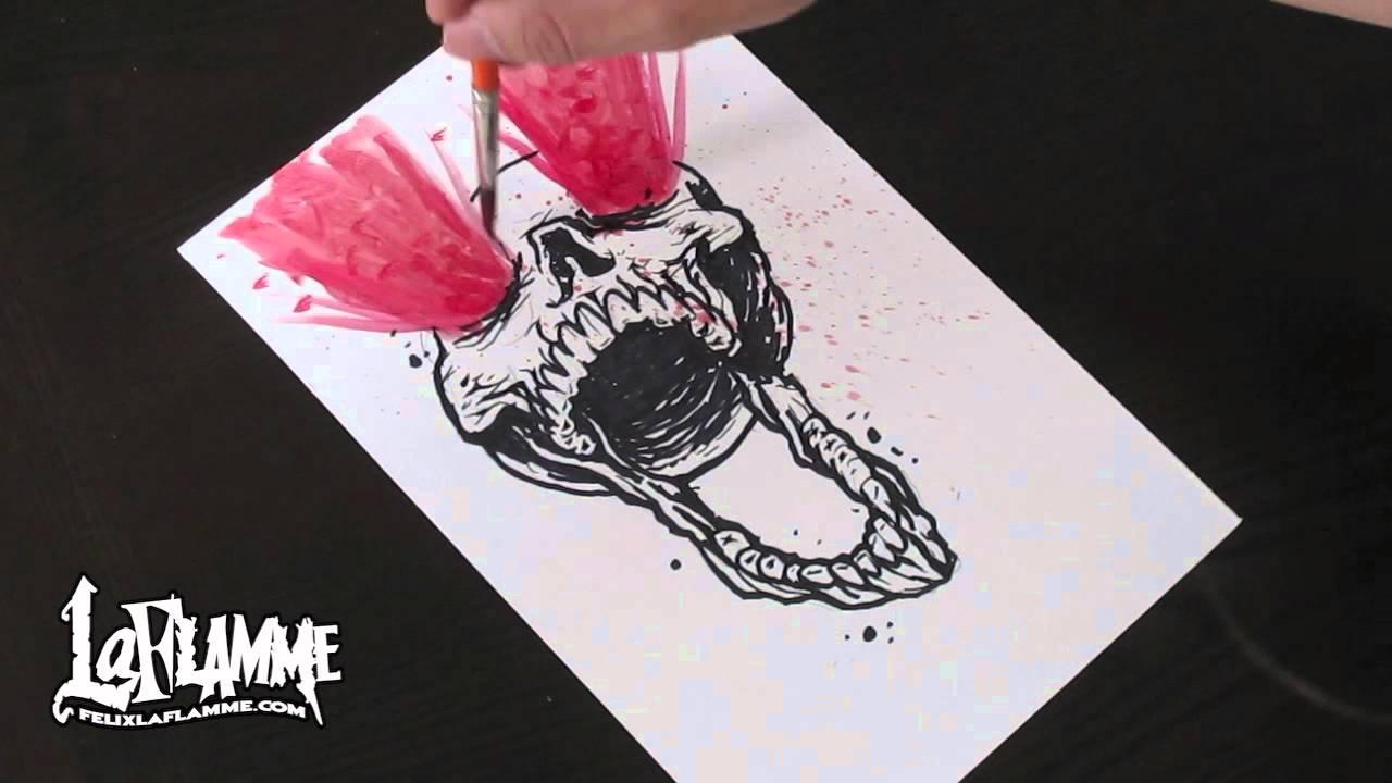 Awsome Cute Skull Wallpapers Sharpie Skull Youtube