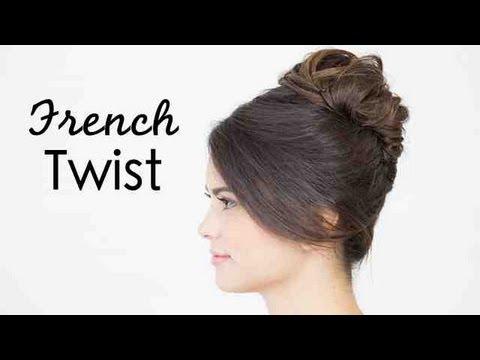 hairstyle Audrey twist hepburn french