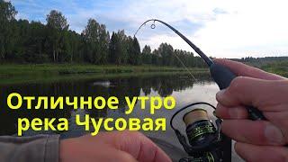 ОТЛИЧНОЕ УТРО НА КРАСИВОЙ РЕКЕ ЧУСОВАЯ Рыбалка на спиннинг Рыбалка для души