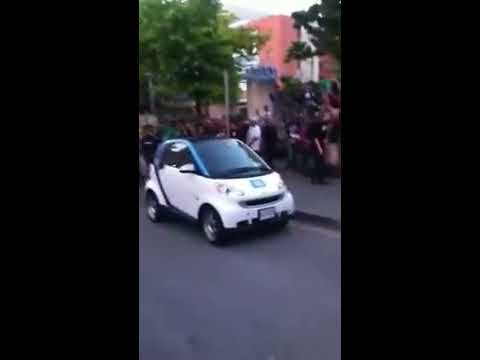 Flipping Smart Car Vancouver Riot 2017