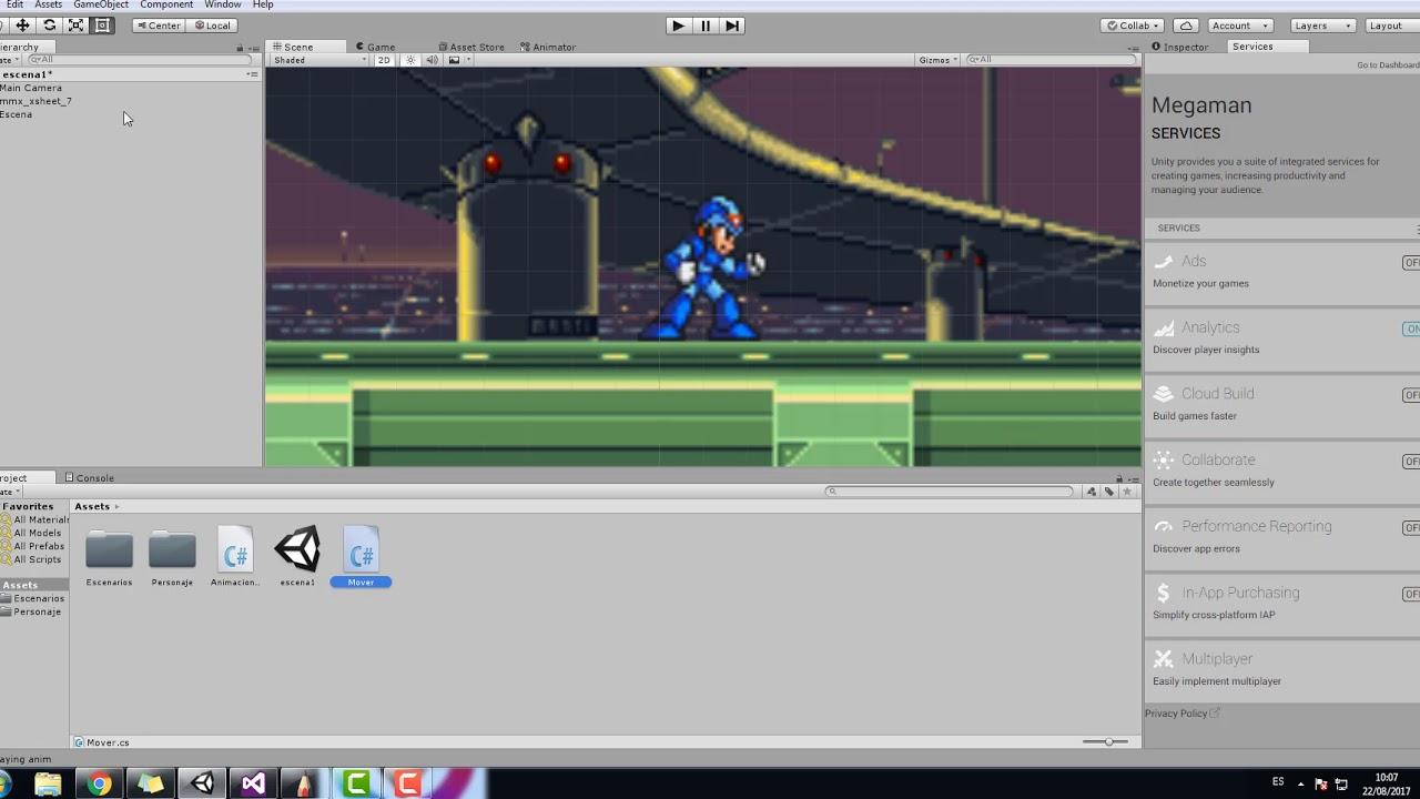 Crear Video Juegos 2d Con Unity Parte 4 Youtube