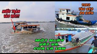 Tàu Kéo Giải Cứu Sà Lan Khẳm Khi Gặp Ngày Sóng To Gió Lớn | Tugboat rescue barges - Long Miền Tây