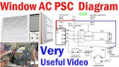 Window AC Wiring Connection Diagram. AC wiring diagram in Urdu , Hindi and  Pashto . - YouTubeYouTube