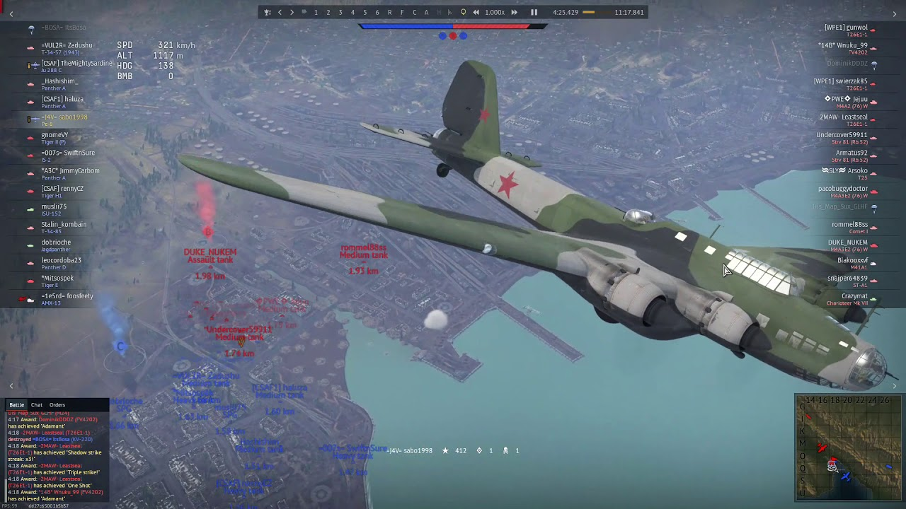 12 Kills With the glorious Pe8 Bomb..5000kg!