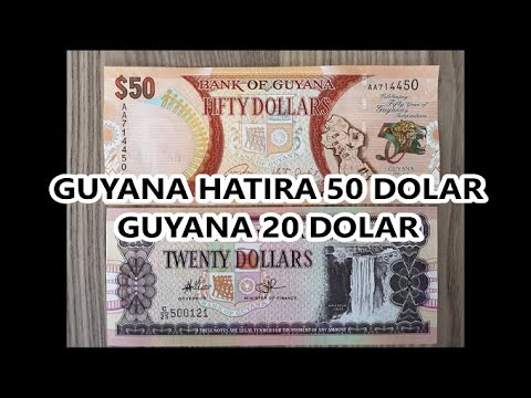 Guyana Hatıra Para 50 Dolar Ve Guyana 20 Dolar - Guyana Currency - Guyana 50 Dollars And 20 Dollars