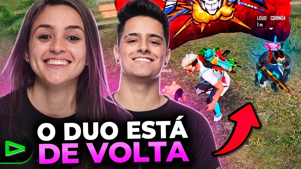 O DUO ESTÁ DE VOLTA!! RANQUEADA NO FREE FIRE COM LOUD CORINGA