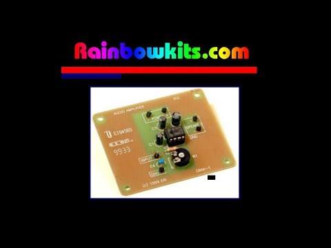 LM386 Low Voltage Power Amplifier, (Rainbow Kits EBAA-1)