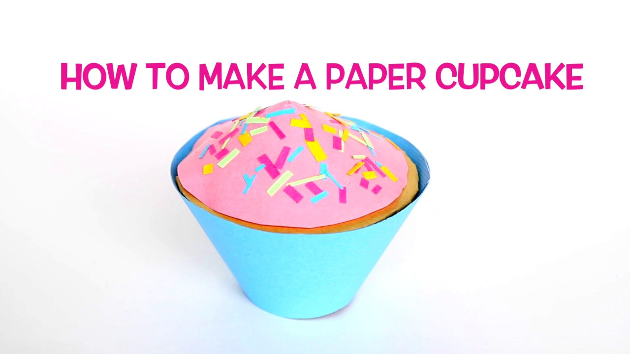 How To Make A Paper Cupcake Youtube