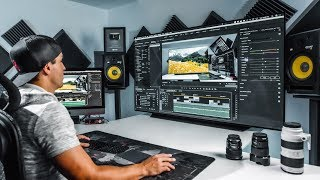"My New Editing Setup! Lg 65"" Oled C9 Tv"
