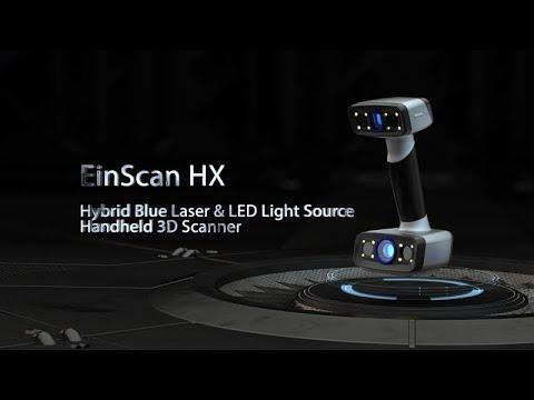 Hybrid Blue Laser & LED Light Source Handheld 3D Scanner EinScan HX - 3D Digitizing Solution