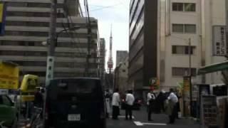 東日本大震災  地震直後の虎ノ門  東京タワー thumbnail
