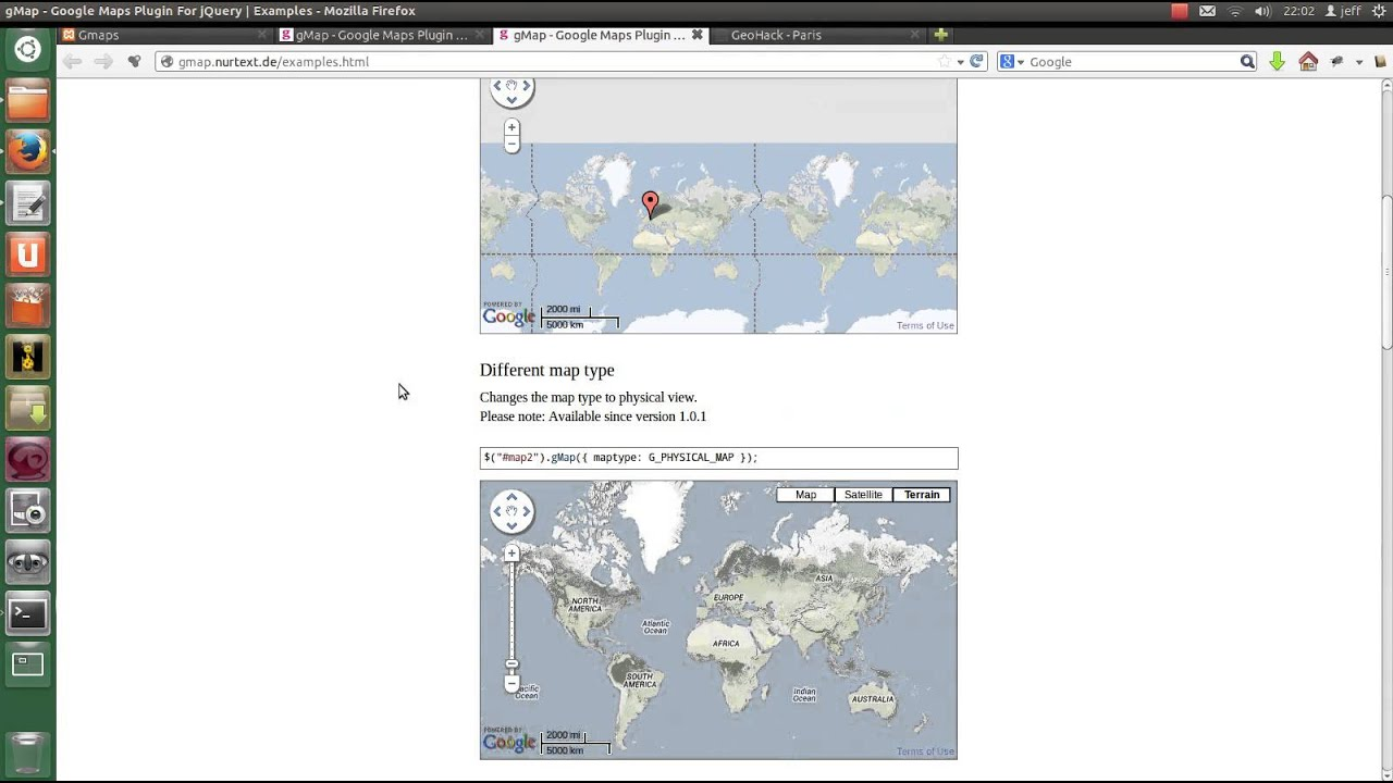 Gmap plugin jquery pour google maps youtube baditri Images