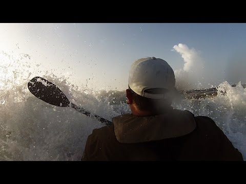 Offshore Kayak Fishing: BTB Beach Launch in rough surf EPIC Fail/Win Video