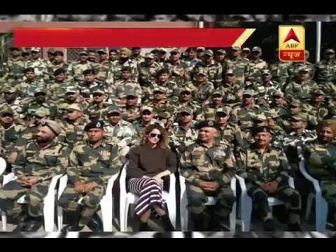 IN GRAPHICS: Kangana Ranaut meets BSF jawans for promotion of Rangoon in Jammu