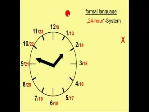 Learn easy German How to tell the time in deutsch
