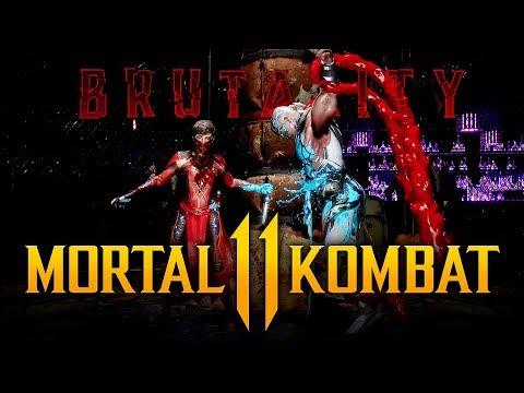 MORTAL KOMBAT 11 - Brutalities Gameplay w/ Sub-Zero, Baraka & Skarlet! (Exclusive Gameplay)