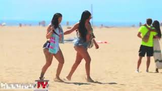 Mold funny in beach girls 😂| Shock hit the cameraman video 😨😨