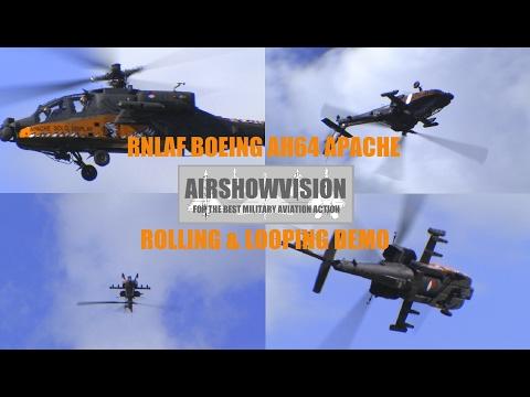 BOEING APACHE AH64 DEMO - Netherlands Air Force (airshowvision)