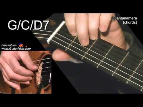GUANTANAMERA (chords): Guitar lesson + TAB by GuitarNick