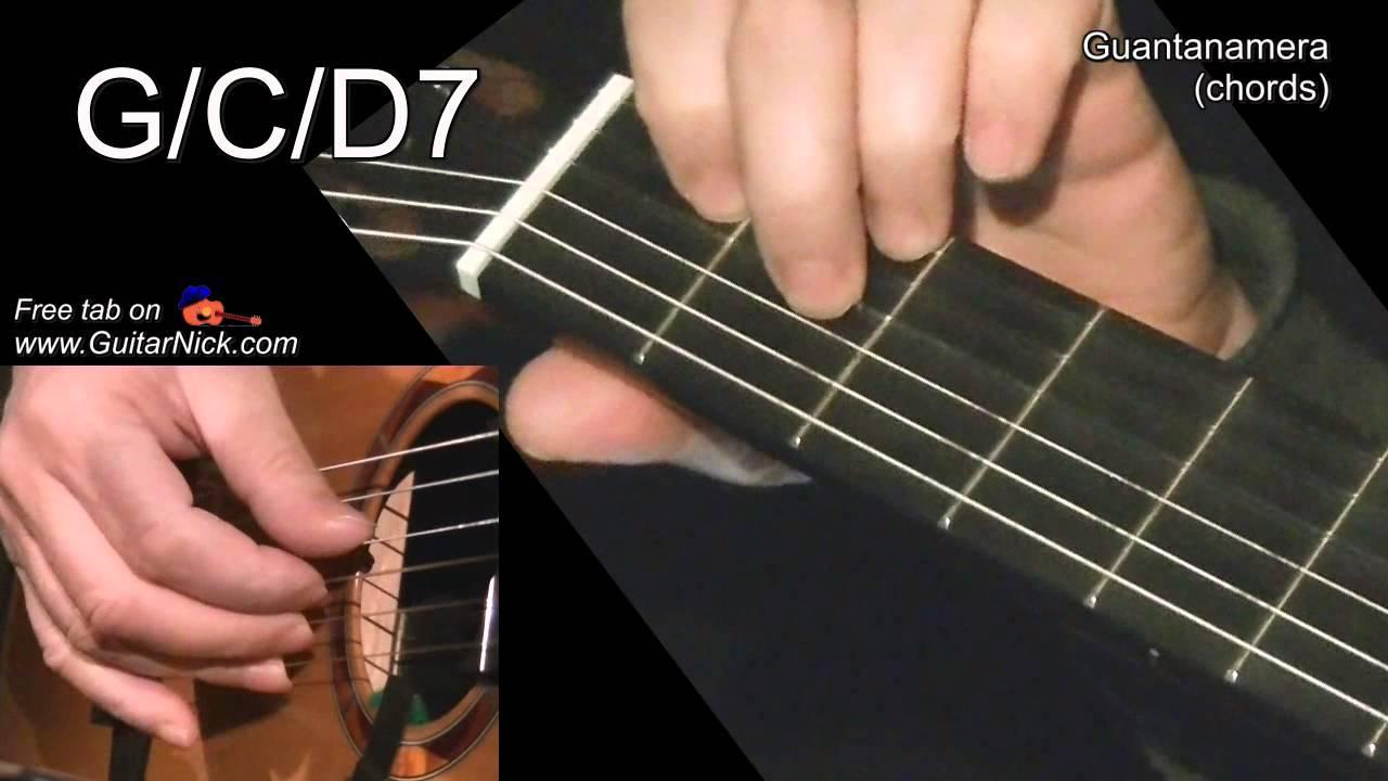 Guantanamera Chords Guitar Lesson Tab By Guitarnick Youtube