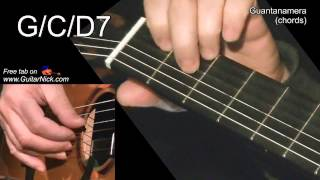 GUANTANAMERA (chords): Guitar lesson + TAB by GuitarNick