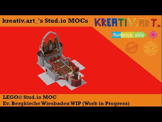 LEGO® MOC Ev. Bergkirche Wiesbaden WIP (Work in Progress) | kreativ.art_'s Stud.io MOCs