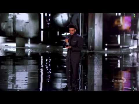 Canada's Walk Of Fame 2014 The Weeknd receives the Allan Slaight award on TV!!