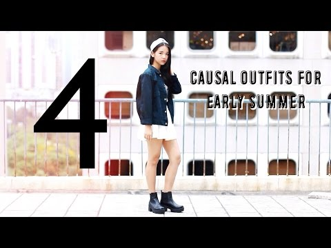 4 Causal Outfits for Early Summer