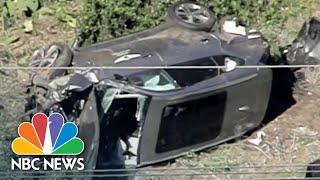 <b>Tiger Woods</b> Injured In Rollover Car Crash, Undergoing Surgery ...