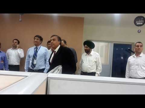 Mukesh Ambani Visit Reliance Jio Office Mohali Punjab.
