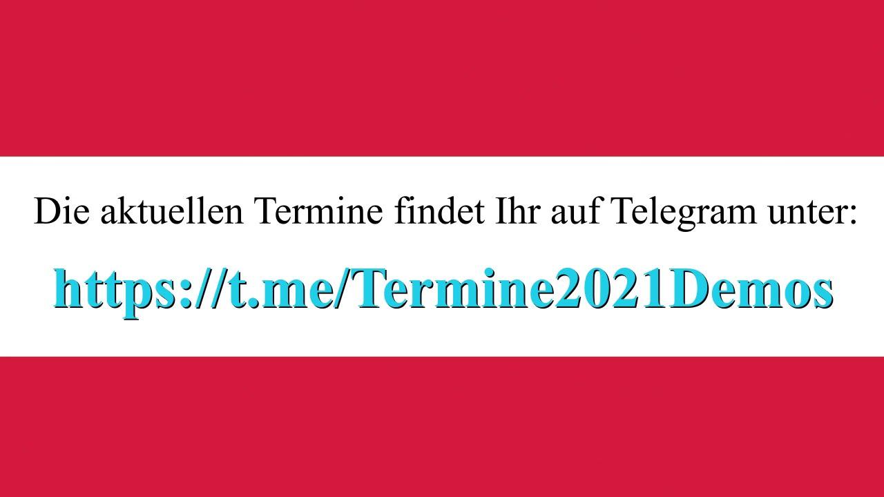 ÖSTERREICH GEHT AUF DIE STRASSE: TERMINE vom 13. - 23. Jänner 2021