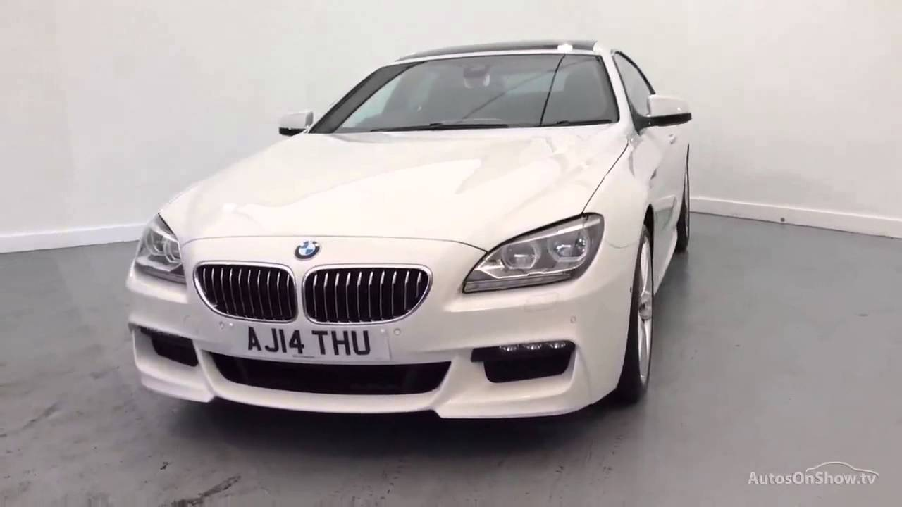 bmw 6 series 640d m sport gran coupe white 2014 youtube. Black Bedroom Furniture Sets. Home Design Ideas
