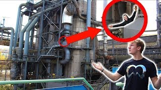 HIDE & SEEK IN AN ABANDONED FACTORY! *CAUGHT BY SECURITY*