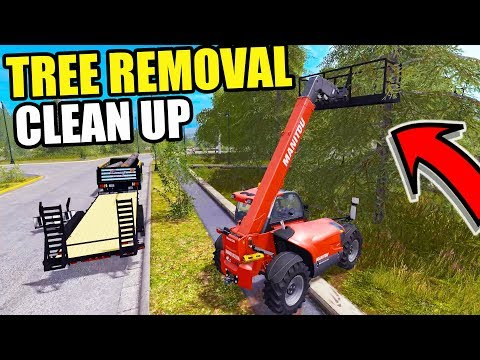 FARMING SIMULATOR 2017 | CUTTING DOWN SOME BIG TREES FOR CUSTOMERS + LOADING IN TRUCK