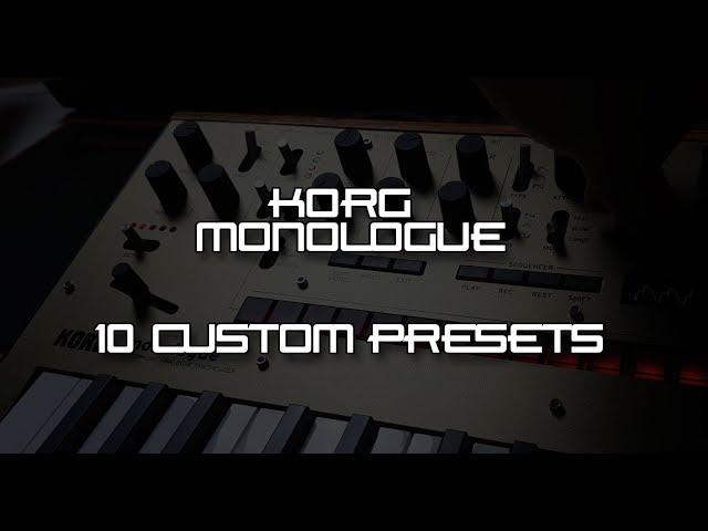 KORG MONOLOGUE - ES23 - Custom Presets (www.patreon.com/es23)