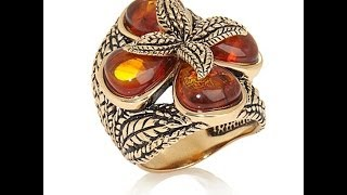 "Studio Barse Amber Bronze ""Grainery"" Ring"