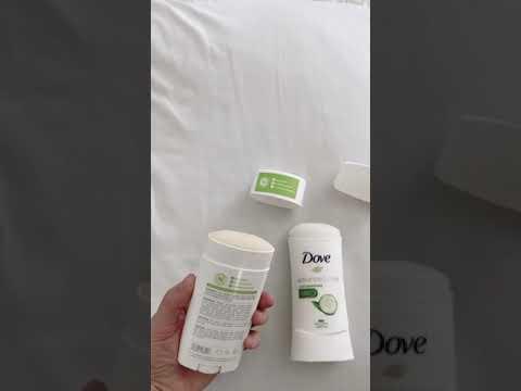 Schmidt's Bergamot Lime ( clean deodorant ) vs  Dove
