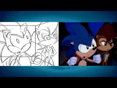 Sonic SatAM Storyboard comparison of the final episode