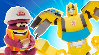 Play Doh Videos | Bumblebees Giant Robot Construction 🤖 Transformers x Play-Doh | The Play-Doh Show