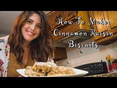 Breakfast Recipe Ideas   How To Make Cinnamon Raisin Biscuits!