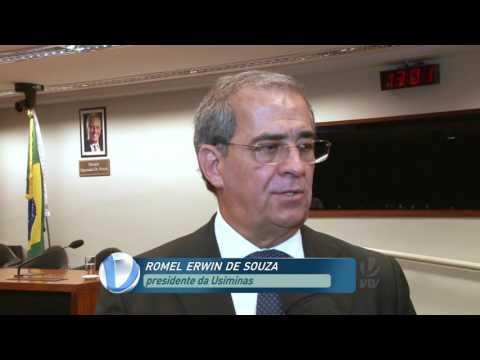 Presidente da Usiminas depõe em CPI no BNDES em Brasília