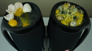 JBL Boombox Bass Tester Eggs Slow Motion 1000Fps