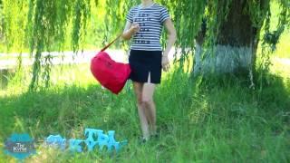 Красный молодежный рюкзак из ткани купить в Украине - обзор