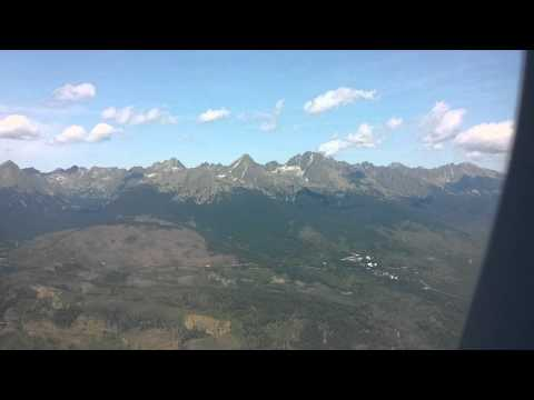 Taking off from Poprad Airport - High Tatras (Magas Tátra, Vysoké Tatry) and Western Tatras