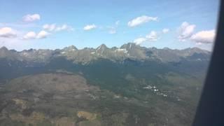 Taking off from Poprad Airport - High Tatras (Magas Tátra) and Western Tatras (Liptói havasok)