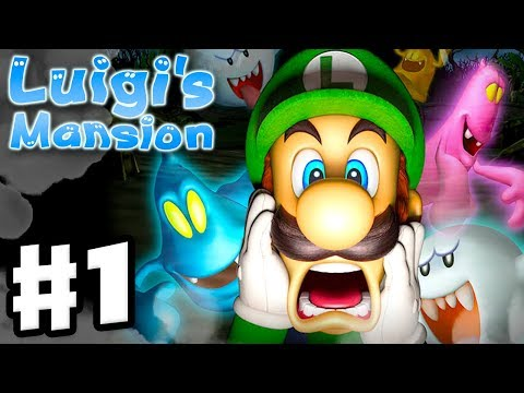 Luigi's Mansion - 3DS Gameplay Walkthrough Part 1 - Area 1 - Chauncey (Nintendo 3DS)