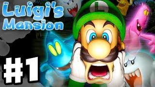 Luigi's Mansion - 3DS Gamęplay Walkthrough Part 1 - Area 1 - Chauncey (Nintendo 3DS)