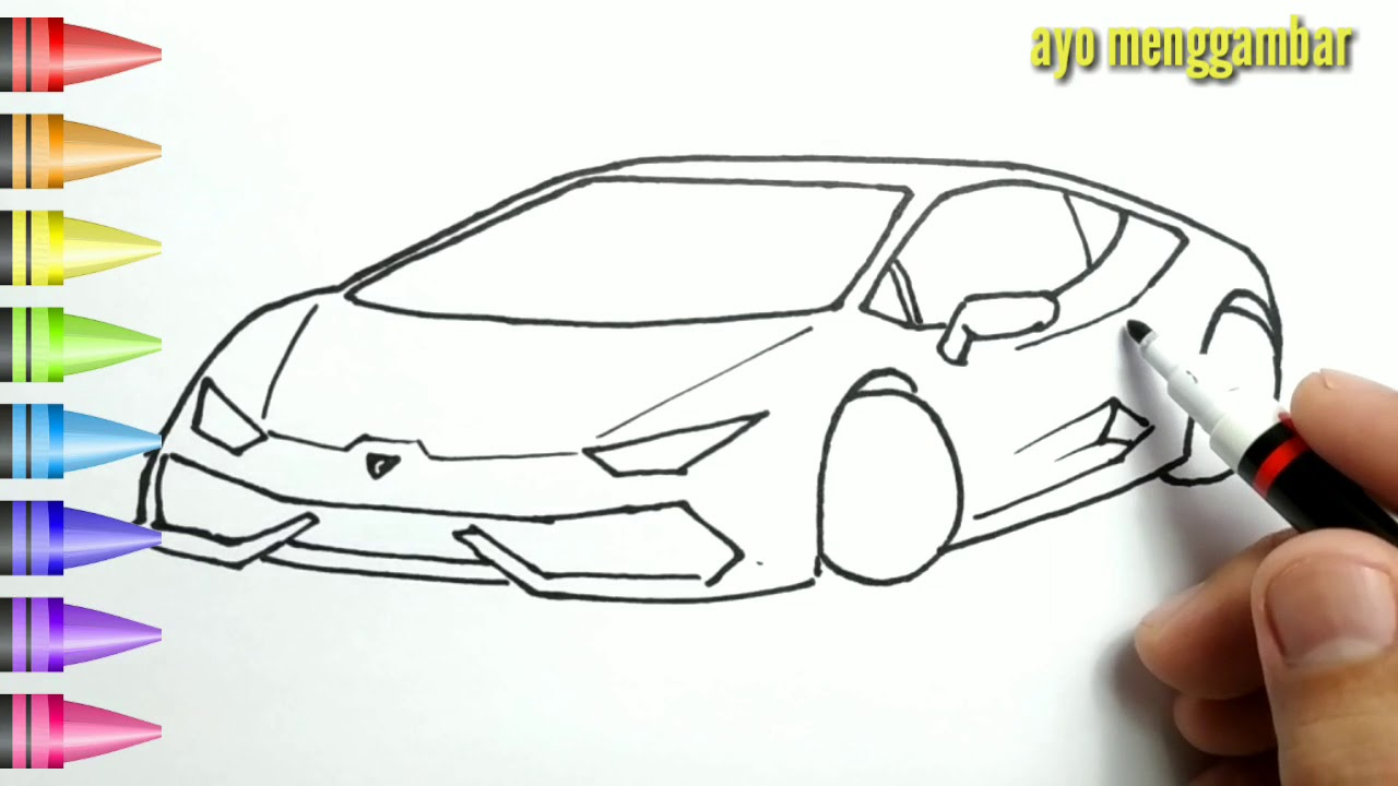 Cara Menggambar Mobil Balap Anak Tk Picture Idokeren